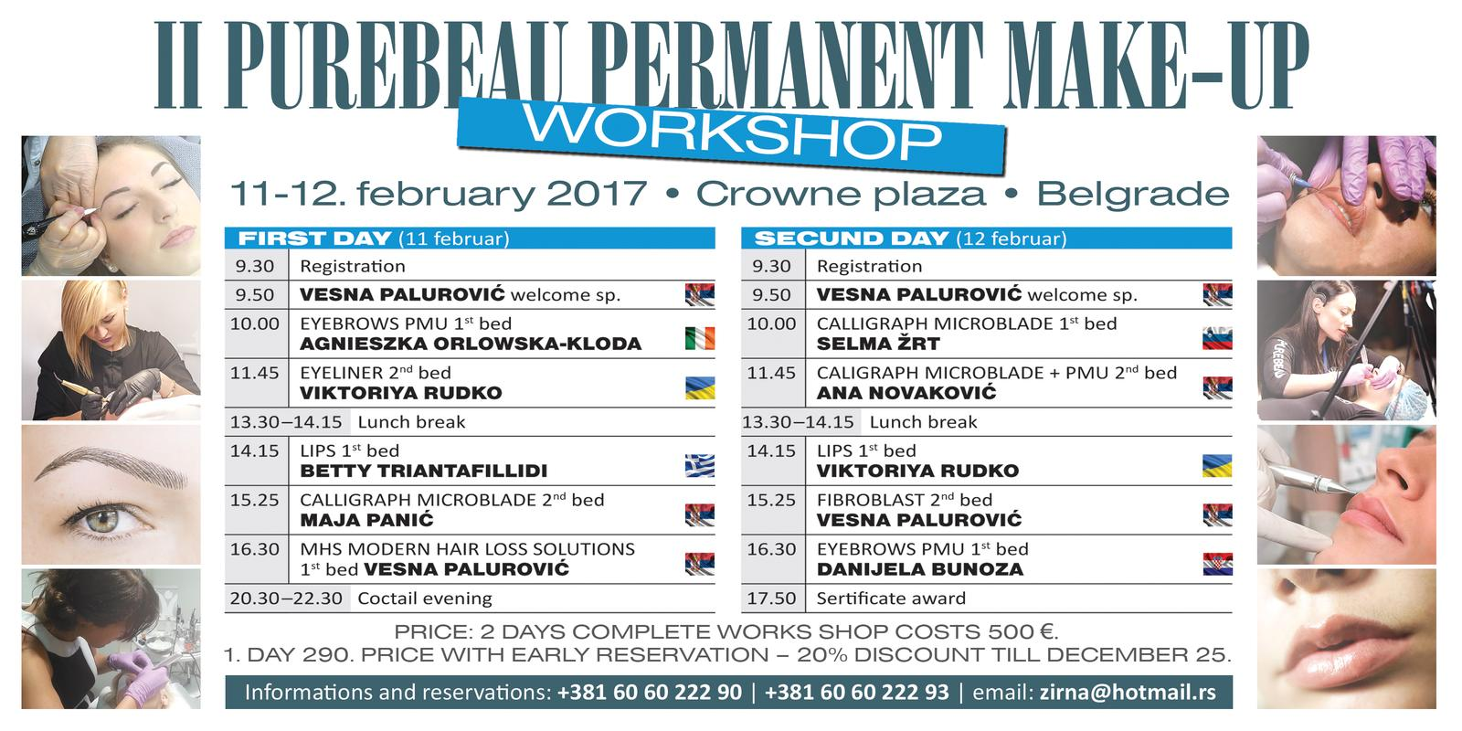 Program Drugog internacionalnog Purebeau workshopa na Balkanu